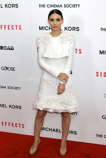 WWW.ACEPIXS.COM....January 31 2013, New York City........Rooney Mara arriving at the premiere of 'Side Effects' at AMC Lincoln Square Theater on January 31, 2013 in New York City....By Line: Nancy Rivera/ACE Pictures......ACE Pictures, Inc...tel: 646 769 0430..Email: info@acepixs.com..www.acepixs.com