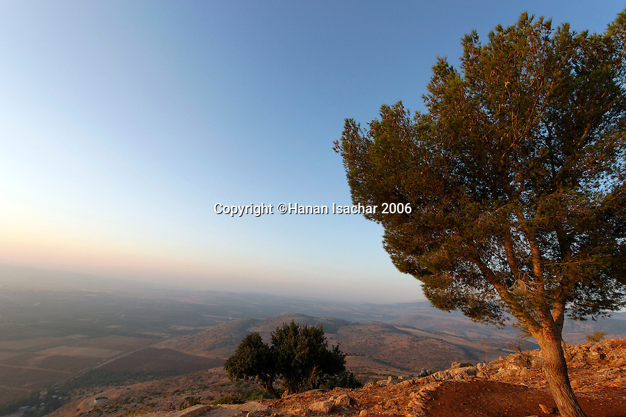 Israel, the Upper Galilee. A view southeast from Keren Naphtali