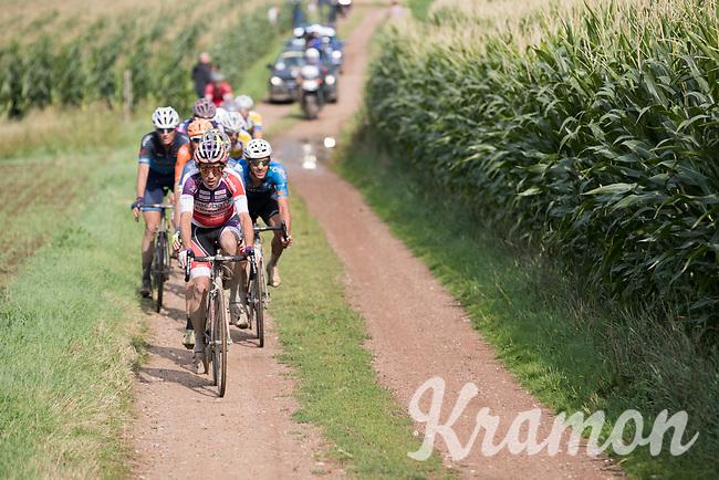 Philipp Walsleben (DEU/Beobank-Corendon) over a muddy gravel section<br /> <br /> Dwars door het Hageland (1.1)<br /> 1 Day Race: Aarschot &gt; Diest (194km)