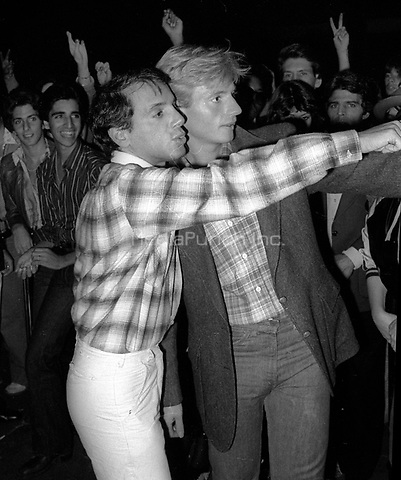 1978 <br /> New York City<br /> Studio 54 co-owner Steve Rubell<br /> with door master Marc Benecke<br /> Credit: Adam Scull-PHOTOlink/MediaPunch