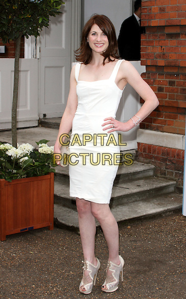 Jodie Whittaker.Arrivals at the English National Ballet Summer party held at Kensington Palace, London, England..June 27th, 2012.full length sleeveless dress hand on hip white.CAP/ROS.©Steve Ross/Capital Pictures.