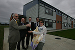 Hand Over...The New Educate together school at Aston Gate in Drogheda..Paul Rowe educate together, David OFarrell  Sammon Contracting and Austin Duffy Project Management John Kelleher Principle and Susan Smith School Manager..Photo: Fran Caffrey/ Newsfile.