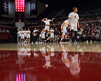 STANFORD, CA - January 5, 2019: Leo Henken, Russell Dervay at Maples Pavilion. The Stanford Cardinal defeated UC Santa Cruz 25-11, 25-17, 25-15.