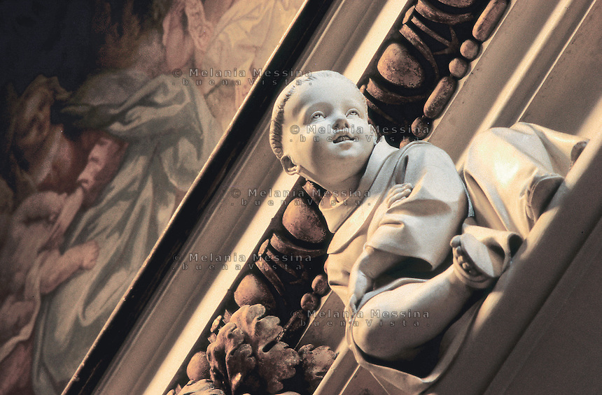 Palermo, S. Maria degli Angeli church, la Gancia,&quot; the little monk&quot; work of art by Giacomo Serpotta 1700-1724.<br /> Palermo, chiesa della Gancia, &quot; il monachino&quot; opera di Giacomo Serpotta 1700-1724...