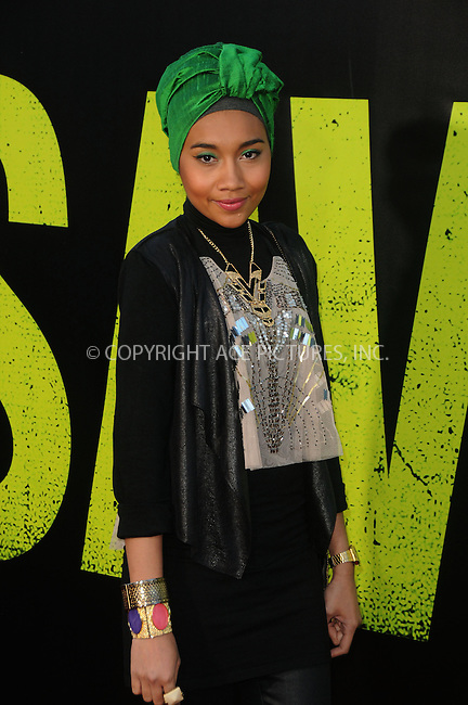 WWW.ACEPIXS.COM . . . . .  ....June 25 2012, LA....Singer/songwriter Yuna arriving at the premiere of ' 'Savages' at Westwood Village on June 25, 2012 in Los Angeles, California....Please byline: PETER WEST - ACE PICTURES.... *** ***..Ace Pictures, Inc:  ..Philip Vaughan (212) 243-8787 or (646) 769 0430..e-mail: info@acepixs.com..web: http://www.acepixs.com