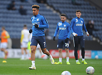 Preston North End's Callum Robinson during the pre-match warm-up <br /> <br /> Photographer Kevin Barnes/CameraSport<br /> <br /> The EFL Sky Bet Championship - Preston North End v Leeds United -Tuesday 9th April 2019 - Deepdale Stadium - Preston<br /> <br /> World Copyright &copy; 2019 CameraSport. All rights reserved. 43 Linden Ave. Countesthorpe. Leicester. England. LE8 5PG - Tel: +44 (0) 116 277 4147 - admin@camerasport.com - www.camerasport.com