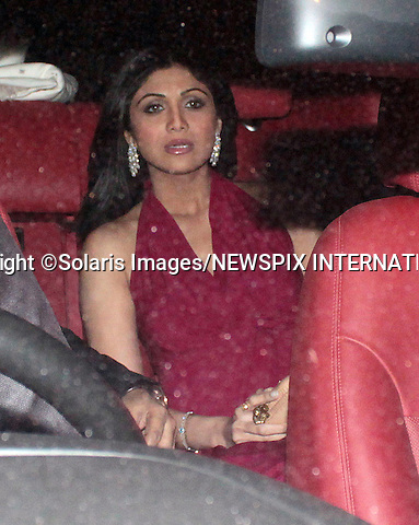 """OPRAH WINFREY IN INDIA.Shilpa Shetty attends a party hosted by Indian socialite Parmeshwar Godrej in honour of visiting American Chat Show Hostess, Oprah Winfrey, Mumbai, India_January 16, 2012..She is scheduled to visit five different cities in six days to shoot her new show besides attending the Jaipur Literature Festival later this month. .Oprah will shoot with spiritual guru Deepak Chopra for her new show, Next Chapter..Mandatory Photo Credit: ©Pravin Uttukar-Solaris Images/NEWSPIX INTERNATIONAL..**ALL FEES PAYABLE TO: """"NEWSPIX INTERNATIONAL""""**..PHOTO CREDIT MANDATORY!!: NEWSPIX INTERNATIONAL(Failure to credit will incur a surcharge of 100% of reproduction fees)..IMMEDIATE CONFIRMATION OF USAGE REQUIRED:.Newspix International, 31 Chinnery Hill, Bishop's Stortford, ENGLAND CM23 3PS.Tel:+441279 324672  ; Fax: +441279656877.Mobile:  0777568 1153.e-mail: info@newspixinternational.co.uk"""