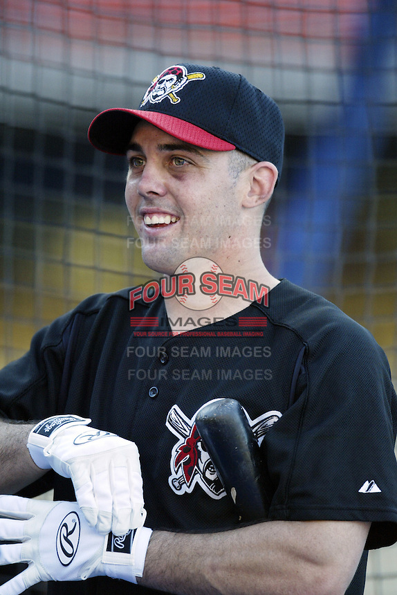 Jack Wilson of the Pittsburgh Pirates before a 2002 MLB season game against the Los Angeles Dodgers at Dodger Stadium, in Los Angeles, California. (Larry Goren/Four Seam Images)