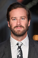 "Armie Hammer<br /> at the London Film Festival 2016 premiere of ""Free Fire at the Odeon Leicester Square, London.<br /> <br /> <br /> ©Ash Knotek  D3182  16/10/2016"