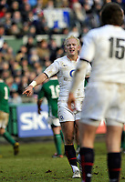 Shane Geraghty issues instructions to fullback Alex Goode. International match between the England Saxons and Ireland A on January 31, 2010 at the Recreation Ground in Bath, England. [Mandatory Credit: Patrick Khachfe/Onside Images]