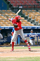 Freddy Valdez participates in the MLB International Showcase at Estadio Quisqeya on February 22-23, 2017 in Santo Domingo, Dominican Republic.