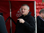 Chris Wilder manager of Sheffield Utd during the Premier League match at Bramall Lane, Sheffield. Picture date: 9th February 2020. Picture credit should read: Simon Bellis/Sportimage