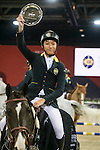 Hang Yuk Sham riding Baily's de Lanzelle wins the Hong Kong Jockey Club Junior Trophy, part of the Longines Masters of Hong Kong on 12 February 2017 at the Asia World Expo in Hong Kong, China. Photo by Marcio Rodrigo Machado / Power Sport Images