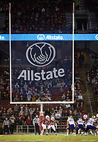 Stanford, CA - October 5, 2019: Allstate Sponsor at Stanford Stadium. The Stanford Cardinal beat the University of Washington Huskies 23-13.