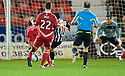 PARS DAVID GRAHAM SCORES DUNFERMLINE'S SECOND GOAL