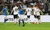 Jubel Deutschland, Verzweiflung bei Sergei Zenjov (Estland, Estonia) nach dem 3:0 - 11.06.2019: Deutschland vs. Estland, OPEL Arena Mainz, EM-Qualifikation DISCLAIMER: DFB regulations prohibit any use of photographs as image sequences and/or quasi-video.