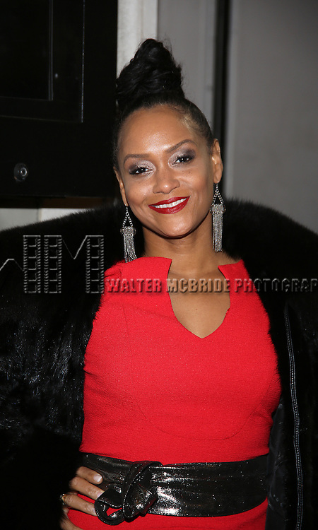 Rema Webb attend the Manhattan Theatre Club's Broadway debut of August Wilson's 'Jitney' at the Samuel J. Friedman Theatre on January 19, 2017 in New York City.