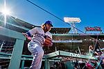Jun 22, 2019; Boston, MA, USA; Toronto Blue Jays third baseman Vladimir Guerrero Jr. takes the field to face the Boston Red Sox at Fenway Park. Mandatory Credit: Ed Wolfstein-USA TODAY Sports