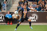 Daniel Cruz (44) of the Philadelphia Union. The Philadelphia Union defeated the Columbus Crew 3-0 during a Major League Soccer (MLS) match at PPL Park in Chester, PA, on June 5, 2013.