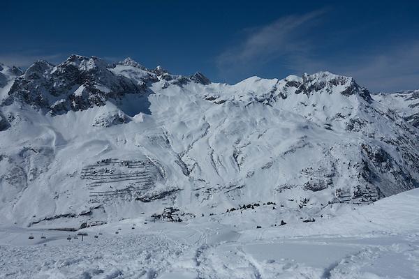 Zursersee and Seekopf Chairlifts at Zurs Ski Area from Lech, St Anton, Austria
