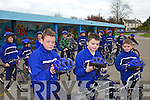 CYCLING: Pupils at CBS Primary School in Tralee taking part in the Safer Cycling Initiative at the school on Wednesday, front l-r: Sean Somers, Andrew Breewood, Lucas O'Mahony.