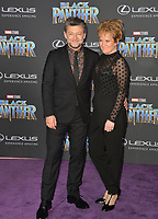 "Andy Serkis & Lorraine Ashbourne at the world premiere for ""Black Panther"" at the Dolby Theatre, Hollywood, USA 29 Jan. 2018<br /> Picture: Paul Smith/Featureflash/SilverHub 0208 004 5359 sales@silverhubmedia.com"