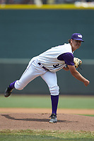 Winston-Salem Dash starting pitcher Blake Battenfield (32) follows through on his delivery against the Buies Creek Astros at BB&T Ballpark on July 15, 2018 in Winston-Salem, North Carolina. The Dash defeated the Astros 6-4. (Brian Westerholt/Four Seam Images)