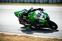 8th July 2020; Circuit de Barcelona Catalunya, Barcelona, Spain; FIM Superbike World Championship tests;  Day One; Maximilian Scheib of the Orelac Racing Verdnatura in action with the Kawasaki ZX 10RR