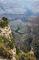 "Grand Canyon South Rim. Artist signed, limited edition fine art print from the American Splendor series.  Photographed in the American National Parks. Custom edited by the artist, and printed on professional artist canvas. Framed in a custom black wood floater frame.  Size 24x36"" plus frame.<br />
