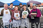 A new farmers market in Killorglin will now take place every Thursday offering the fresh and locally produced goods. .Front L-R John Paul and Kathleen O'Connor (Sasta Sausages), Ildiko Bajzat (Wellness baking Listowel), and Theresa Foley (Heavenly Baked) .Back L-R Marie Charland (Crepes), John Harty (Fab Fudge) and Rolf Jongbloed (Ralfs Fine Foods).
