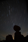 Star Trails over Balanced Rock