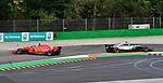 02.09.2018, Autodromo di Monza, Monza, FORMULA 1 GRAN PREMIO HEINEKEN D'ITALIA 2018<br />,im Bild<br />Unfall zwischen Sebastian Vettel (GER#5), Scuderia Ferrari und Lewis Hamilton (GB#44), Mercedes AMG Petronas Formula One Team in der zweiten Schickane, Sebastian Vettel (GER#5), Scuderia Ferrari dreht sich<br /> <br /> Foto &copy; nordphoto / Bratic