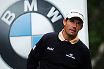 Padraig Harrington after driving off on the 5th hole during the 3rd round of the BMW PGA Championship at Wentworth Club, Surrey, England 26th may 2007 (Photo by Eoin Clarke/NEWSFILE)