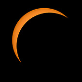 The Moon is seen passing in front of the Sun during a solar eclipse from Ross Lake, Northern Cascades National Park, Washington on Monday, Aug. 21, 2017. A total solar eclipse swept across a narrow portion of the contiguous United States from Lincoln Beach, Oregon to Charleston, South Carolina. A partial solar eclipse was visible across the entire North American continent along with parts of South America, Africa, and Europe.  ry Credit: Bill Ingalls / NASA via CNP