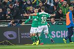 08.03.2019, Weser Stadion, Bremen, GER, 1.FBL, Werder Bremen vs FC Schalke 04, <br /> <br /> DFL REGULATIONS PROHIBIT ANY USE OF PHOTOGRAPHS AS IMAGE SEQUENCES AND/OR QUASI-VIDEO.<br /> <br />  im Bild<br /> <br /> jubel 1:1 'Milot Rashica (Werder Bremen #11) mit Max Kruse (Werder Bremen #10)<br /> <br /> Foto &copy; nordphoto / Kokenge