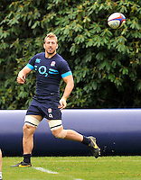 Bagshot, England.Chris Robshaw of England during the England training session held at Pennyhill Park on October 31, 2013 in Bagshot, England.