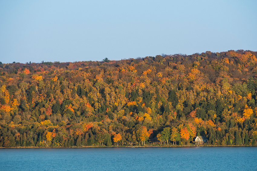 Fall color and Lake Superior near Munising on Michigan's Upper Peninsula.