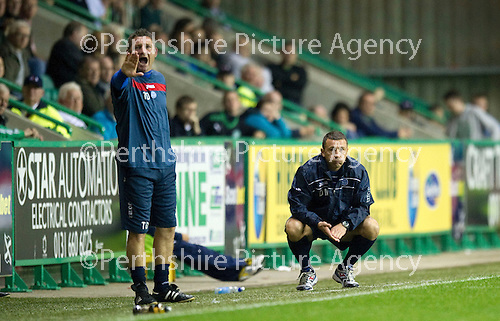 Hibs v St Johnstone...28.09.11   SPL Week.A frustrated Derek McInnes.Picture by Graeme Hart..Copyright Perthshire Picture Agency.Tel: 01738 623350  Mobile: 07990 594431