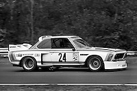 Sam Posey drives his BMW 3.0 CSL during the Schaefer 350 IMSA Camel GT race at Lime Rock Park near Lakeville, Connecticut, on May 26, 1975. (Photo by Bob Harmeyer)