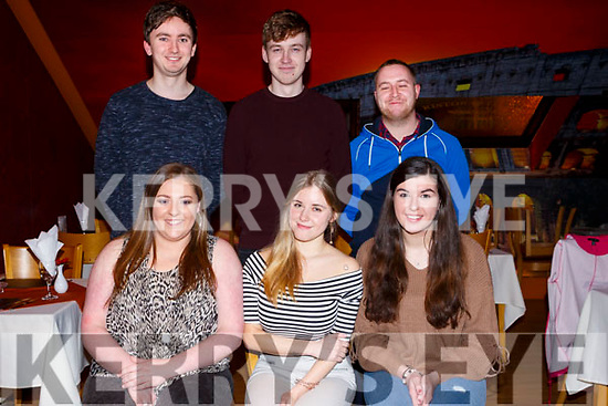 Friends enjoying a night out in Restaurant Uno on Friday evening last. <br /> Seated L-r, Sarah O&rsquo;Connor, Ewelina Olechowska and Iseult Daly.<br /> Back l-r, Bob Delaney, Christopher Cunningham and Eoin Keane.
