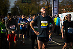 © Joel Goodman - 07973 332324. 15/10/2017 . Manchester , UK . Athletes reach the finish line in the Greater Manchester Half Marathon in Old Trafford . Photo credit : Joel Goodman