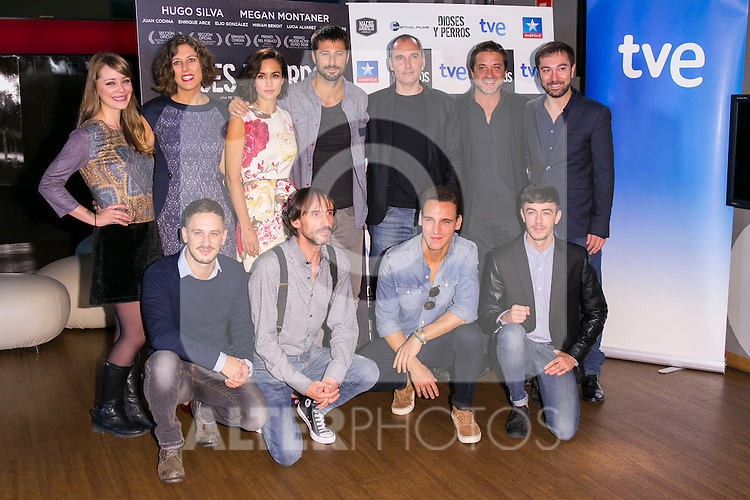 "The crew of the Movie attends the ""DIOSES Y PERROS "" Movie presentation at Kinepolis Cinema in Madrid, Spain. October 6, 2014. (ALTERPHOTOS/Carlos Dafonte)"