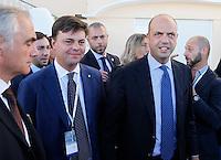Marco Gay e il Ministro degli Intervi Angelino Alfano  al  30° Convegno dei Giovani imprenditori di Confindustria a Capri 16 Ottobre 2015