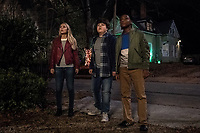 Goosebumps 2: Haunted Halloween (2018) <br /> Madison Iseman, Jeremy Ray Taylor &amp; Caleel Harris<br /> *Filmstill - Editorial Use Only*<br /> CAP/MFS<br /> Image supplied by Capital Pictures