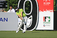 Y.E.Yang tees off on the 9th tee during Day 1 of the Dubai World Championship, Earth Course, Jumeirah Golf Estates, Dubai, 25th November 2010..(Picture Eoin Clarke/www.golffile.ie)