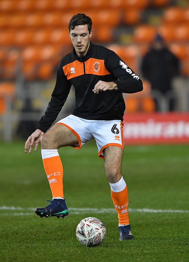 Blackpool's Ben Heneghan<br /> <br /> Photographer Dave Howarth/CameraSport<br /> <br /> The Emirates FA Cup Second Round Replay - Blackpool v Solihull Moors - Tuesday 18th December 2018 - Bloomfield Road - Blackpool<br />  <br /> World Copyright © 2018 CameraSport. All rights reserved. 43 Linden Ave. Countesthorpe. Leicester. England. LE8 5PG - Tel: +44 (0) 116 277 4147 - admin@camerasport.com - www.camerasport.com