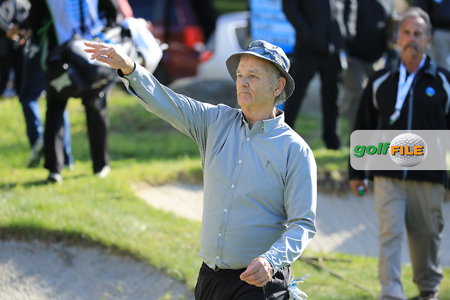 Actor Bill Murray during the first round of the AT&T Pro-Am, Pebble Beach Golf Links, Monterey, California, USA. 07/02/2019<br /> Picture: Golffile | Phil Inglis<br /> <br /> <br /> All photo usage must carry mandatory copyright credit (© Golffile | Phil Inglis)