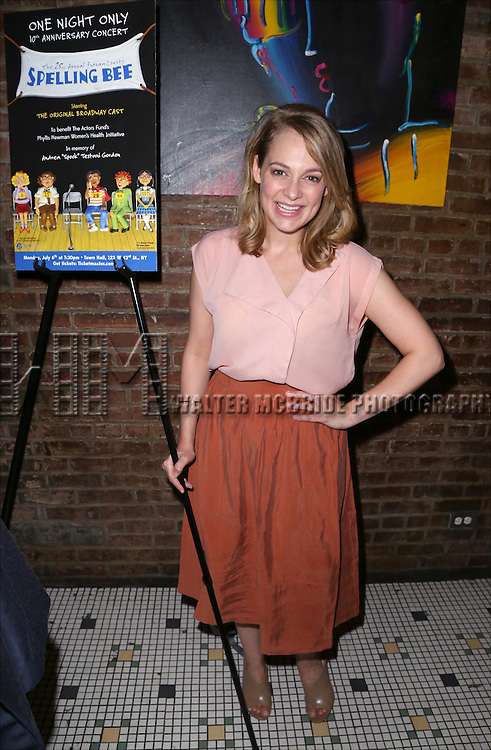 Jenni Barber attends the After Party for the One Night Only 10th Anniversary Concert of 'The 25th Annual Putnam County Spelling Bee' at Town Hall on July 6, 2015 in New York City.