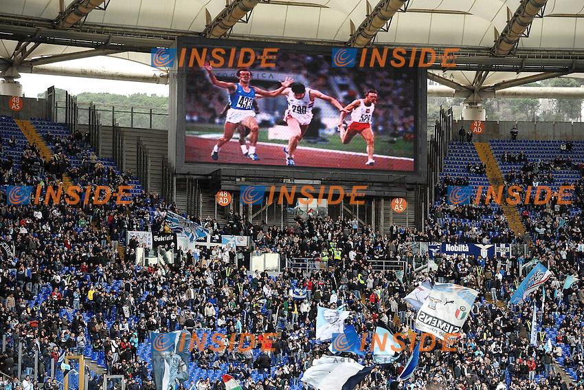 Omaggio a Pietro Mennea .Roma 30/03/2013 Stadio Olimpico.Football Calcio 2012/2013 Serie A.Lazio Vs Catania 2-1.Foto Andrea Staccioli Insidefoto