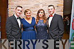 Enjoying Oliver Hurley's Night at the Oscars   50th birthday celebration  at the Fels point Hotel on Friday were John Fitzgerald, Cliona Hurley, Anna O'Donoghue and Sean Hanafin.